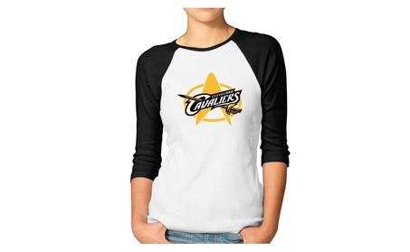 LQYG Women's Three Quarter Sleeve Tshirt - Basketball Star T-shirt 4627b615-f9c9-4058-a8d9-9e337818dfbc