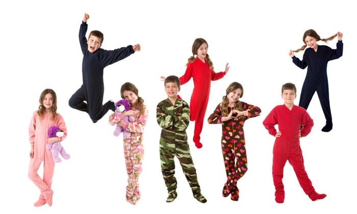 a8bcb213b Kid's Fleece Onesie Footed Pajamas for Boys and Girls | Groupon
