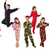 Kid's Fleece Onesie Footed Pajamas for Boys and Girls