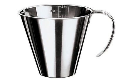 Paderno World Cuisine 42581-20 Stackable Measuring Jug Stainless Steel ed930075-a695-441e-8a63-8ca510de1307