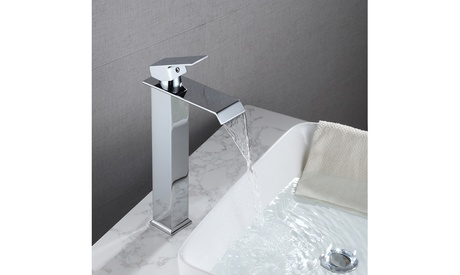 Single Handle Hot And Cold Single Control Bathroom Basin Waterfall Faucet