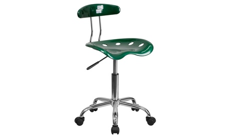 Vibrant Chrome Task Chair with Tractor Seat 046a4dc6-62b9-4c17-bbb2-b1e6f870e4ad