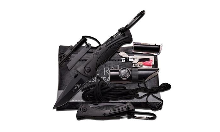 Elk Ridge Black Survival Kit 6.75″ X 4.25″