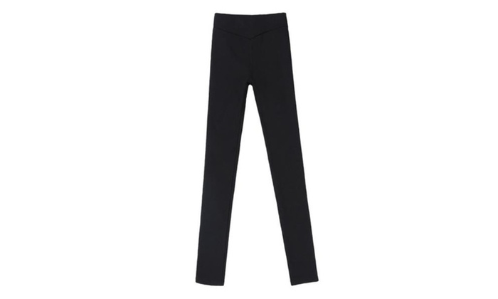 Women's Fashion Solid Empire Waist PullOnStyle Long Leggings