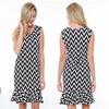 Black & White Chevron Career Dress