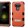 Insten Hard Hybrid Rubberized Silicone Cover Stand Case For LG G5