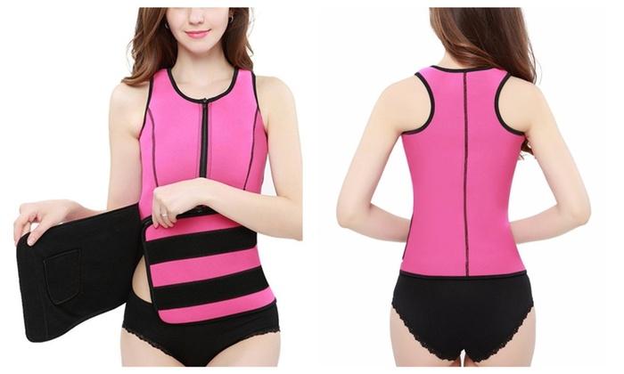Neoprene Shaper Suit Sauna Tank Top Vest with Adjustable Belt (eB1)