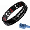 316L Steel Energy Wristband Magnetic Stone Bracelet for Men