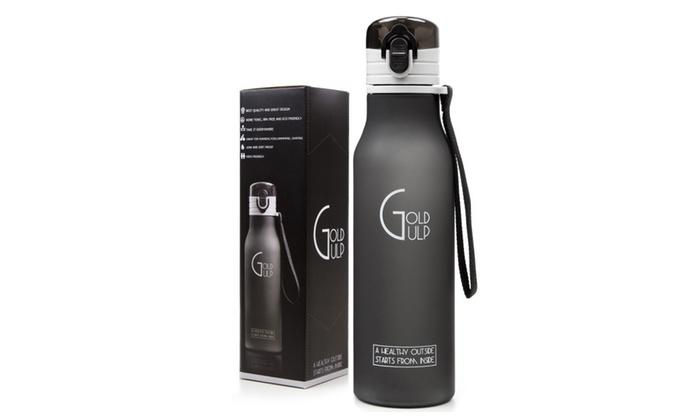 Gold Gulp Small Sport Water Bottle BPA Free 18 oz Tritan Eco Friendly