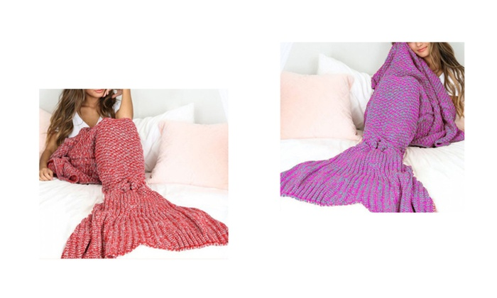 Cozy Handmade Cotton Mermaid Blanket Warmer for Cold Weather