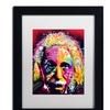 Dean Russo 'Einstein II' Matted Black Framed Art