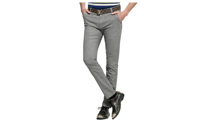 Men's Slim Fit Straight Leg Casual Pants