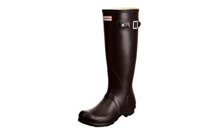 Hunter Boots Women's Original Tall Wellington Rainboots - Black 19d48cac-f618-4794-902b-2393e03c1296