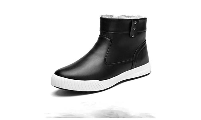 Men's Cotton-Padded Shoes Plus Velvet Warm Snow Boots
