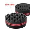 Insten Double Sided Twists Hair Brush Sponge Twist Coil Wave Black