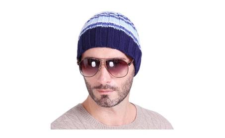 Vertical striped striped warm hedge knitting outdoor skiing hat e7c7e241-2381-4d7b-b28b-796d62fb631b