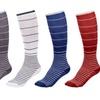 Ultra-Support Striped Compression Socks For Men & Women(5 Packs)