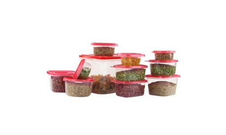 58 Piece Plastic Food Container Set - 29 Containers with Air Tight Lids
