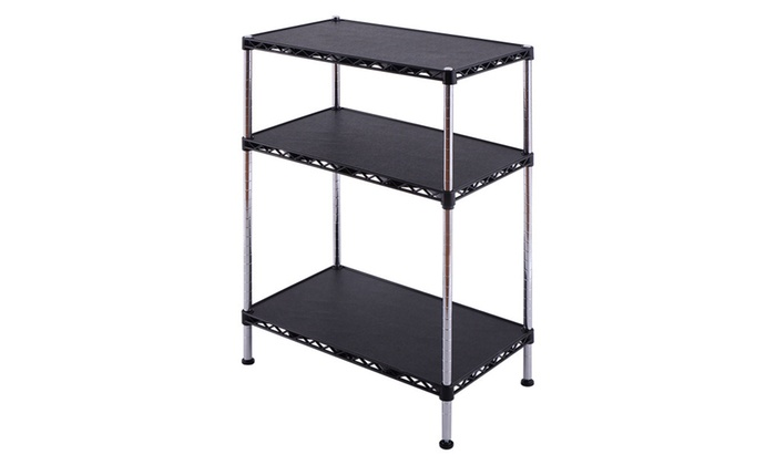 3 Tire Adjustable Storage Rack Shelves Display Organizer Home Office ...  sc 1 st  Groupon & Up To 57% Off on 3 Tire Adjustable Storage Rac... | Groupon Goods