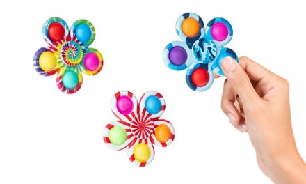 Hybrid Spinner Pop-It Fidget Toy Set of 3 Push Bubble Spinner Stress Relief Toy Was: $15 Now: $6.99.