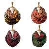 Women's Lightweight Rainbow Zigzag Print Soft Infinity Scarves