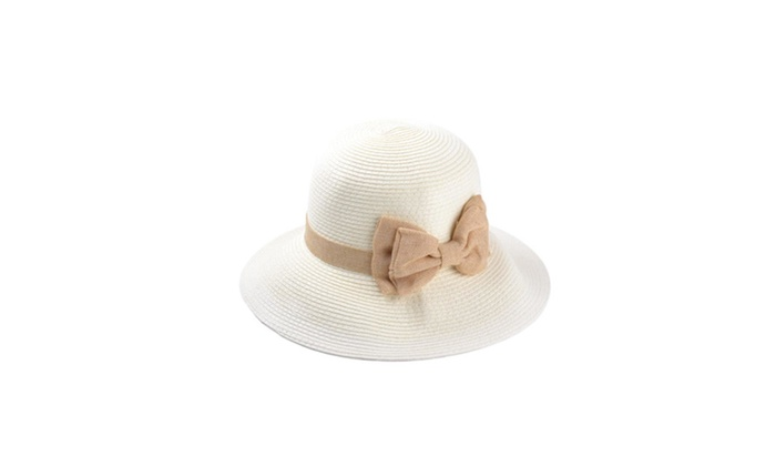 Women's Solid Floppy Brim Cutwork Fashion Bucket Hat