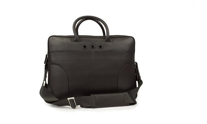 Dunhill AdV8 Brown Double Zip Briefcase