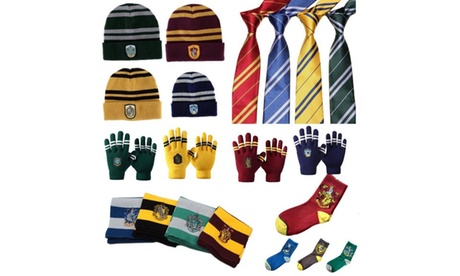Harry Potter 7 Piece Scarf, Hat, Gloves, Badge, Tie, Socks and Brooch