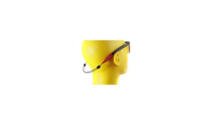 Cablz Zipz Adjustable Sunglasses Holder Red/Black 14in