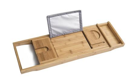 Bamboo Bathtub Tray and Caddy - Expandable Non-Slip Wooden Bath Tray 284d70ee-ed8f-4ce8-a800-5d0bdf9b58aa