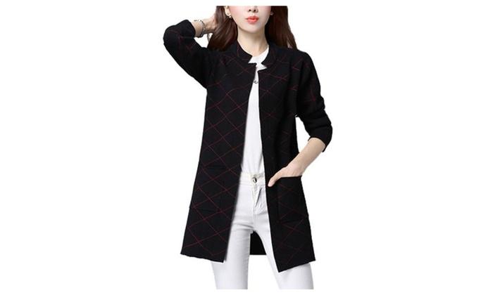Women's Long Sleeve Simple Regular Fit Casual Cardigan