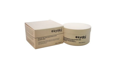 Kyoku Sake Infused Shave Creme For Sensitive Skin Men 6 oz Shave Cream