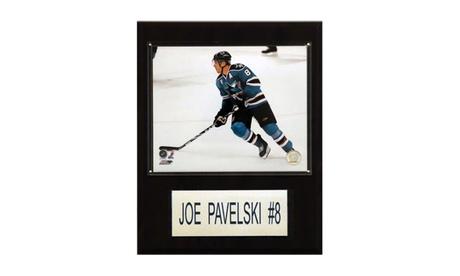 "NHL 12""x15"" Joe Pavelski San Jose Sharks Player Plaque 971305cb-0c9d-4fa5-a2fe-cdffd3aaaef1"