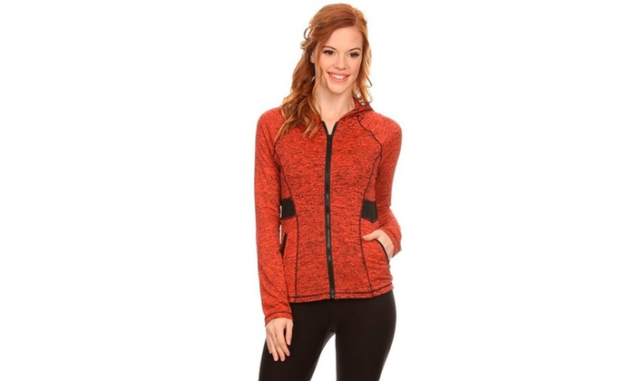 ee30d24ba Women s Active Wear Zip Up Jacket With Hoodie