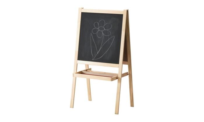 Whiteboard Ikea ikea softwood whiteboard blackboard drawing easel 59 groupon