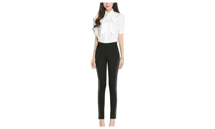 Women's Slim Fit Commuting Equipment Mid Rise Trousers