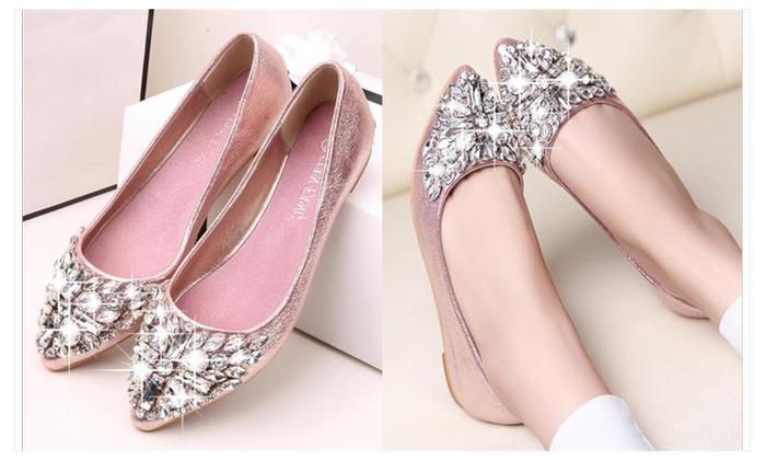 Ava Jeweled Ballet Slippers