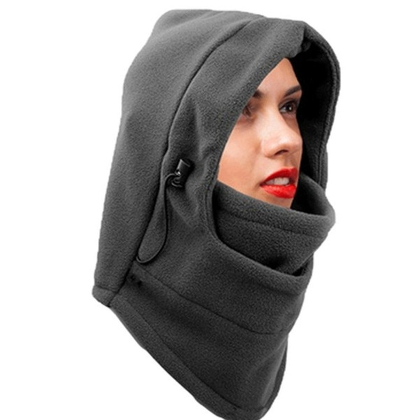 6726f9503 New Women's Hoodies Balaclava Fleece Winter Warm Fleece Ski Face Mask |  Groupon