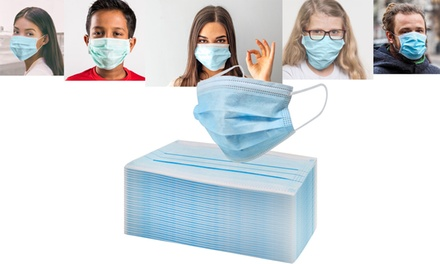 (10- 50- or 150-Pack) 3-Ply Non-Medical Disposable Face Masks