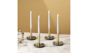 Flameless Taper Candle Stick Set with Remote Control and Batteries