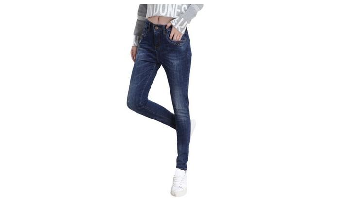 Women's Long Fashion Simple Casual Straight Leg Jeans