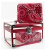 Pink Paisley Clear Caboodle Make Up Bag Train Case Organizer