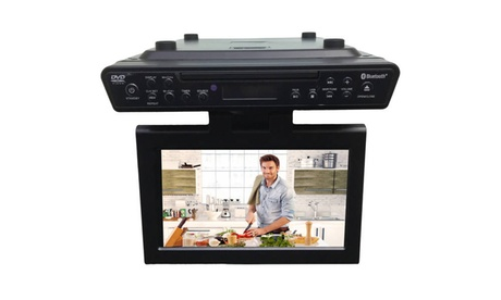 Sylvania 10 inch Under Cabinet Kitchen TV and Built in DVD Player HDMI Bluetooth fcff7e6b-d1c8-4358-aeb6-ff2a18ab7165