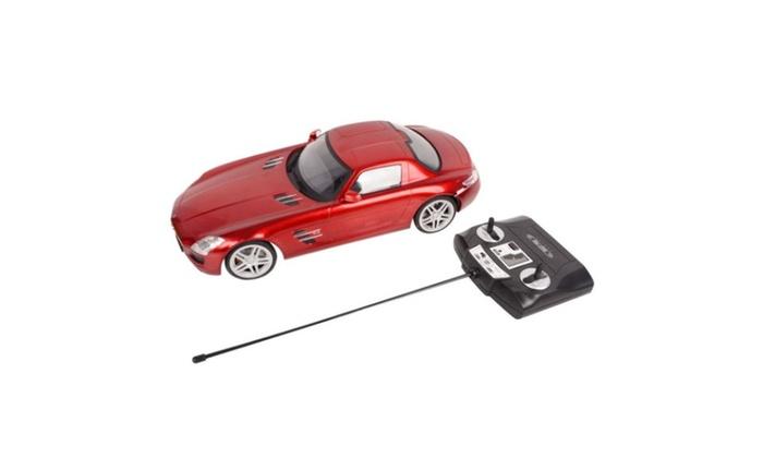 1 14 Scale Licensed Mercedes Benz Sls Amg Remote Control Car Groupon