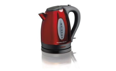 Hamilton Beach 40885 Stainless Steel Electric Kettle, 1.7-Liter, Red 3821ca8c-ec07-44d4-89c2-146f9a56593e