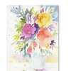 Sheila Golden Vase with Bright Blooms Canvas Print