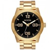 Nixon Men's 'Corporal SS' 48mm All Gold / Black Stainless Steel Watch