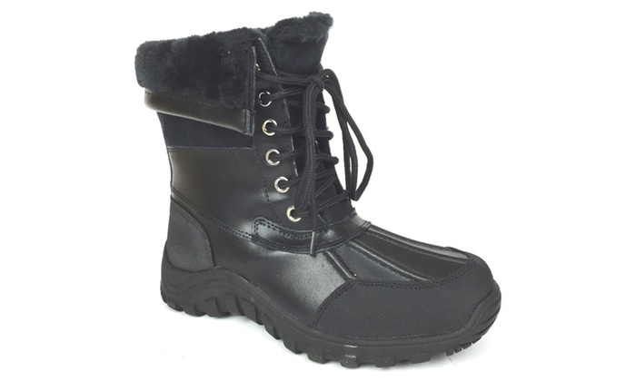 Women's Snow Boots Waterproof Fur Lined Lace UP (D,M) 2076
