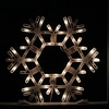"""19.75"""" Lighted Shimmering Snowflake Folding Xmas Window Silhouette"""