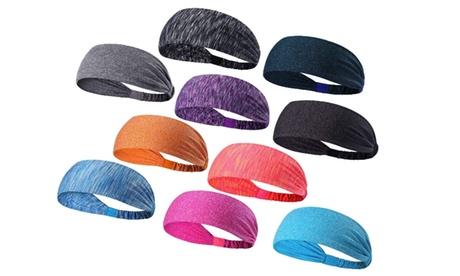 Sports Fitness Headband and Sweatband Unisex (5-Pack)